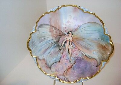 Vintage Princess Enchantress Butterfly Fairy Collector Decorative Plate Warwick