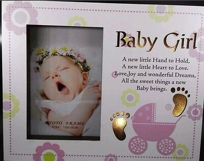 Baby girl night light photo frame birthday christening baby shower gift