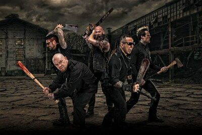 "004 FIVE FINGER DEATH PUNCH - Ivan Moody Metal Rock Band 21""x14"" Poster"