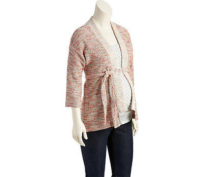 NWT Old Navy Maternity Belted Kimono Sweater Oatmeal Marl Project Nursery Med/Sm