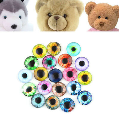 20x 10MM/16MM/20MM Glass Eyes Kit For Needle Sewing Felting Bear Doll Crafts DIY