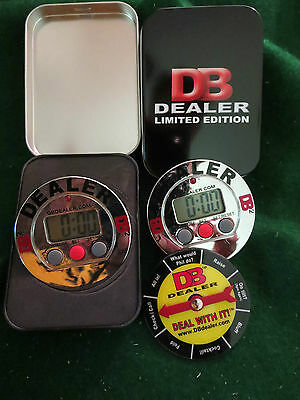 3 Dealer Buttons, L.E. (version1)  DB2 Poker timer, and 2 cases