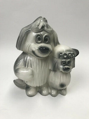 Vintage Ford Motor Company Shaggy Dog and Pup Ceramic Coin Bank, 1950's