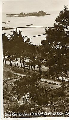 Carte Postale JERSEY ST HELIER West park Gardens and Elisabeth Castle