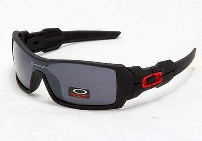 Brand New Fashion Black men's Sunglasses (OAKLEY ) *oil rig silver lens 7871