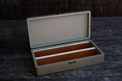 Early RADOPORTS NSW Timber Leatherette 35 mm Photography Slide Case.
