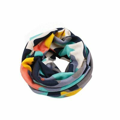 Camo Printed Cotton Neck Wrap Scarves Boy Girls Warm Circle Collar Scarf