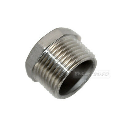 """1"""" Male x 1/2"""" Female Thread Reducer Bushing M/F Pipe Fitting SS 304 BSPT CL"""