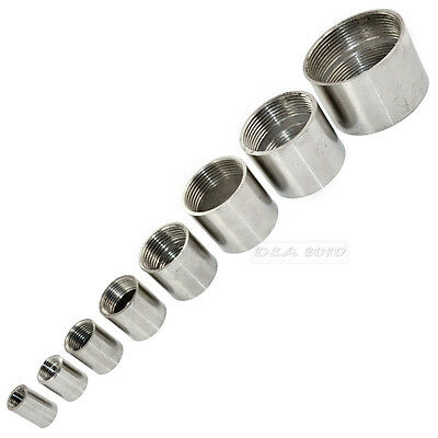 """1/4"""" -2"""" Female x  Female Threaded Pipe Fitting Stainless Steel SS304 BSP NEW CL"""