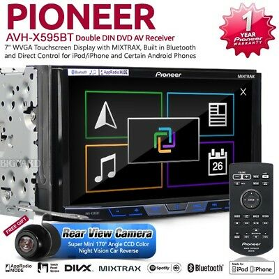 "PIONEER AVH-X595BT 7"" WVGA MIXTRAX Double DIN Bluetooth Car CD DVD Stereo Player"