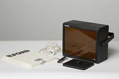 Ilford Darkroom Safelight w/ 902 Filter + NEW 902 Filter + Wall Mount WORKING!