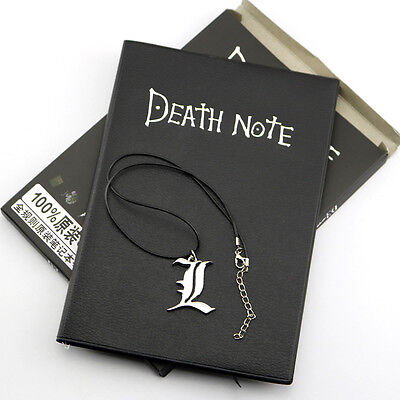 HOT Anime Death Note Cosplay Notebook+Necklace Set School Large Writing Journal
