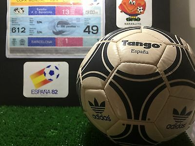 TICKET OPENNING MATCH WORLD CUP SPAIN 1982 + Official ball mini.