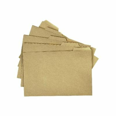 Q-Connect Tabbed Folder 170gsm Foolscap Buff (Pack of 100)  [KF01578]