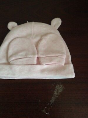 new baby hat and scratch mitts