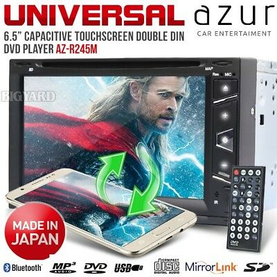 "AZUR R245M 6.5"" Double DIN Mirror Link USB SD Car CD Player DVD Stereo (Japan)"