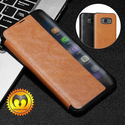 For Samsung Galaxy S8 /S8 Plus Leather Shockproof Hybrid Slim Flip Case Cover
