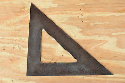 Vintage tiangle square speed metal old hand measuring tool protractor carpenter