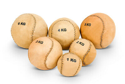 Small Leather Medicine Ball - 1 kg - 2 kg - 3 kg - 4 kg - 5 kg - 6 kg - training