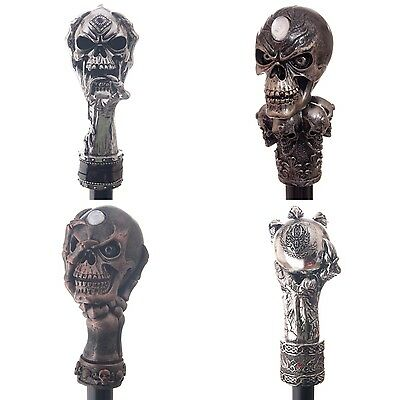 Decorative Walking Stick With Fantasy Top - Quality Black Cane Head Skull Claw