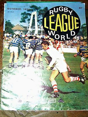 Rugby League World  October 1971- Semi Finals action coverage