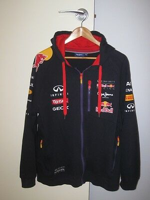 Red Bull Racing Hooded Sweat Jacket Sz XL