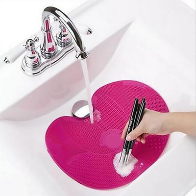 1X Silicone Makeup Brush Cleansing Pad Make Up Washing Cosmetic Cleaner Tool Mat