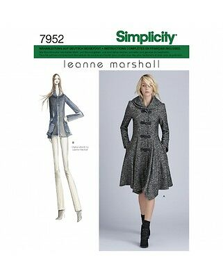 Simplicity 7952 D5 Damen Schnittmuster Mantel Jacke Meanne Marshall 30-38