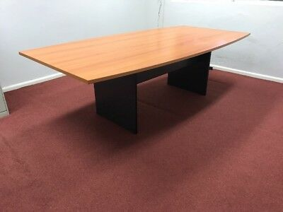 Boardroom Table boat shaped 2400 x 1200