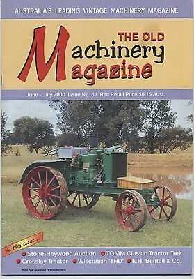 The Old Machinery Magazine TOMM  issue 89 June-July 2000
