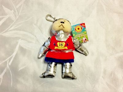 Sir Galahad the Knight Bear Beanie Kid keyring/bagtag