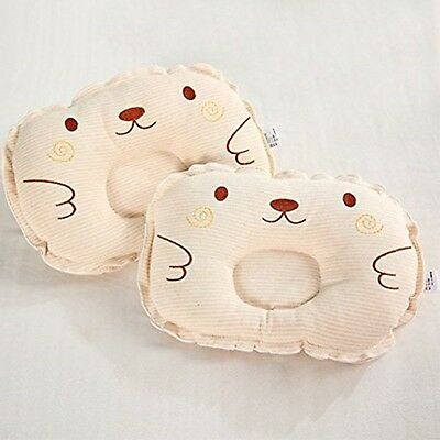 Bedding Colored Cotton Embroidered Newborns Shaping Pillow Baby Anti Migraine...