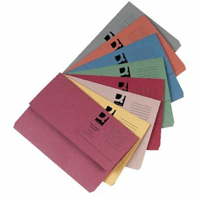 Q-Connect Foolscap Assorted Document Wallets Pack of 50 KF01490 [KF01490]