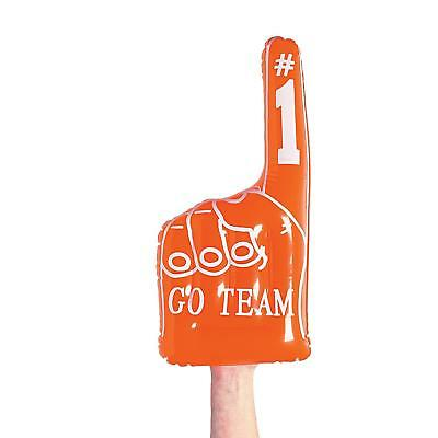 """18"""" Giant Inflatable Orange Pointing Finger Hand - Go Team Fancy Dress Event Toy"""