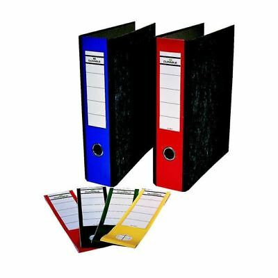 Durable Ordofix Lever Arch File Spine Labels Assorted (Pack of 10) [DB84605]
