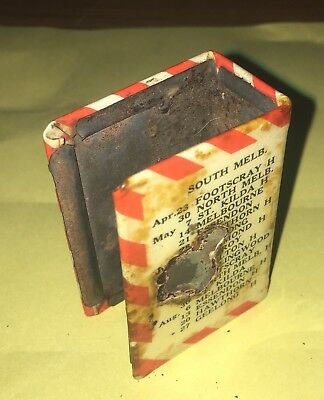 Extremely Rare 1930's South Melbourne Football Club Fixture Matchbox Cover