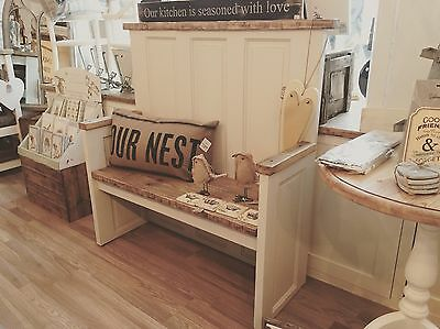 Beautiful Shabby Chic Monks Bench pew Dining Room French Country Home