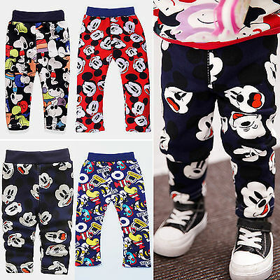 Kids Toddler Baby Micky Mouse Harem Long Pants Outfits Boys Trousers Leggings