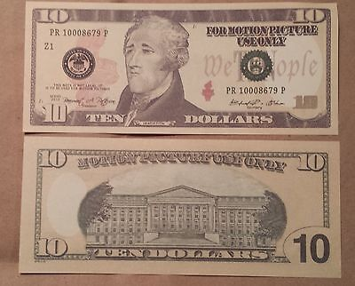 $10 Bill - Best Movie Prop Money - Fake Prank - Looks Real - Free Shipping!