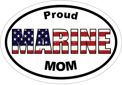 USMC Marine Corps Proud Marines Mom Window Laptop Car Decal Sticker