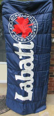 Destination Labatt Sleeping Bag NEW In Plastic Canadian Outfitters Blue Beer EXC