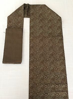 Authentic Japanese brown Nagoya obi for women, imported from Japan (G1621)