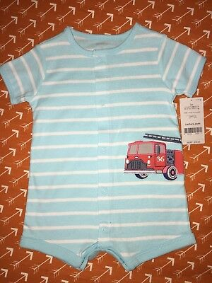 Brand New Carters 3 Months Baby Boy Outfit Romper Set Lot Fire truck