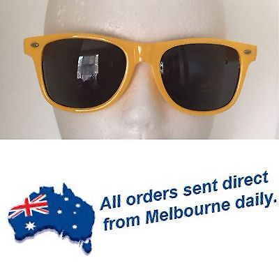 BULK LOT Yellow Wayfarer Style Sunglasses - 6 Pairs