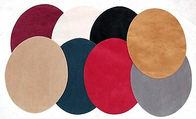 Faux Suede Elbow/Knee Patches x 2 Iron on, Washable Choice of Colours
