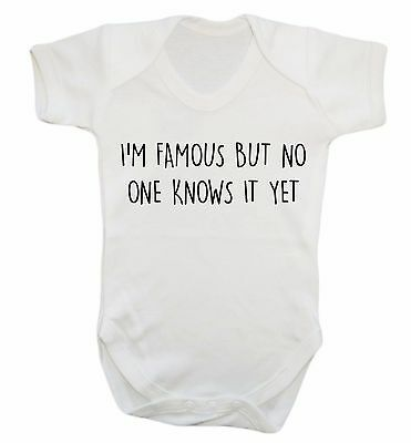 I'm famous but no one knows it yet baby vest star well known sassy hipster 593