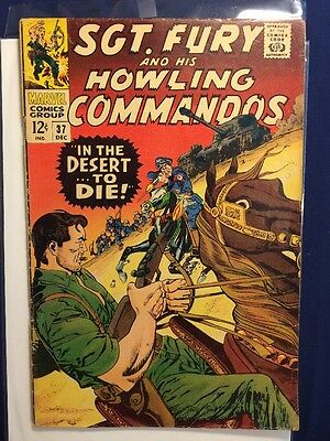 Sgt Fury & His Howling Commandos #37 VG+ Marvel In The Desert... To Die...
