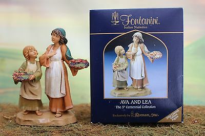 "5"" Fontanini Nativity 2006 Limited Edition AVA AND LEA  w/ Box & Story - NICE!!!"
