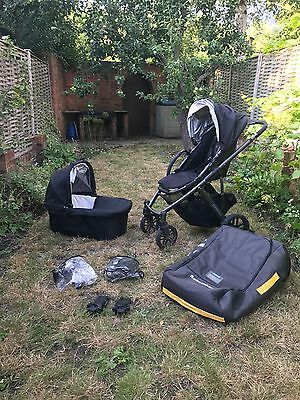 uppababy vista 2013 jake black travel system with car seat accessories picclick uk. Black Bedroom Furniture Sets. Home Design Ideas