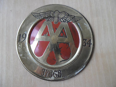 Mega Rar - Oldtimer Plakette  British Automobil Association 1934 Members No.